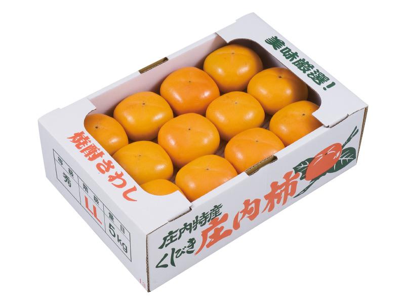 櫛引産庄内柿約5kg L〜2L級24〜27個(家庭用)
