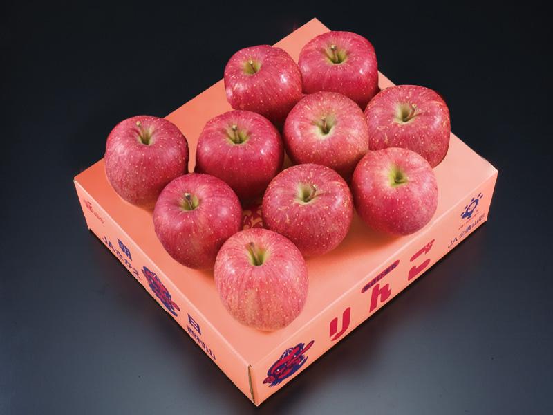 朝日町産特秀サンふじりんご特秀蜜入約3kg8〜10玉