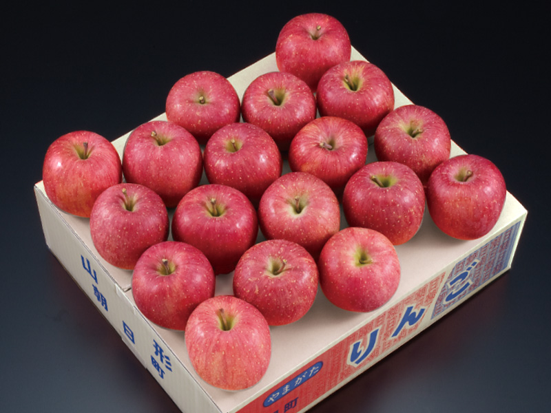 朝日町産秀品サンふじりんご約5kg16〜18玉